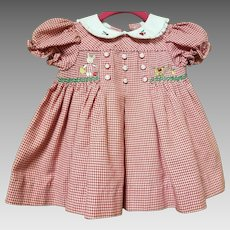Vintage B.T. Kids Red Checkered Dress 6-9 months