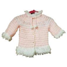 Handmade Pink and White Baby Sweater