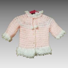 Handmade Pink and White Baby Sweater