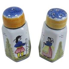 Henriot Quimper Salt and Pepper Shakers