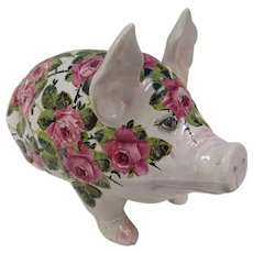 Large Wemyss Pig with Roses