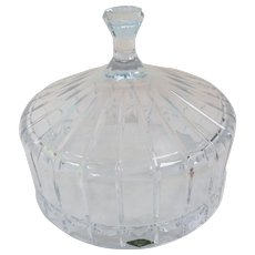 Large Polish Crystal Food Dome