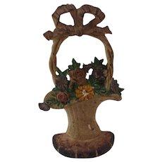 Hubley Flower Basket Doorstop