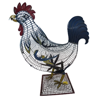 Rooster Shaped Bird Cage