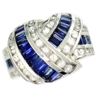 14 Karat White Gold Cast Cluster Ring