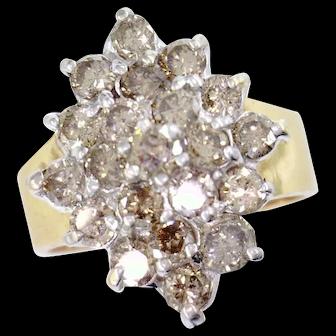 10 Karat Cast Cluster Ring