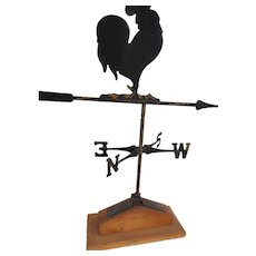 Sheet Iron Crowing Rooster Weathervane