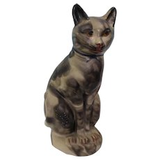 Large chalkware Smoke Decorated Cat