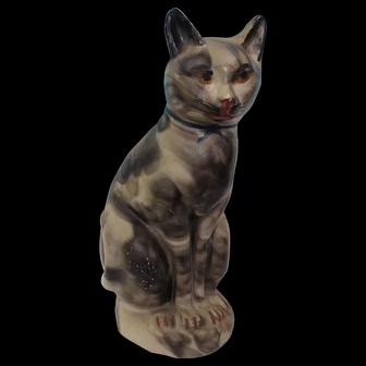 Large chalkware Smoke Decorated Cat