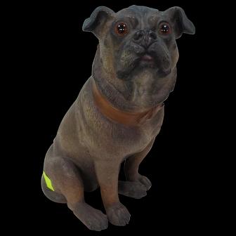 German Terra Cotta Pug Figure