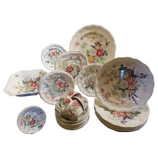 Set of Copeland Spode with Gainsborough Pattern