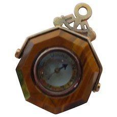 Tiger Eye Compass Pendant