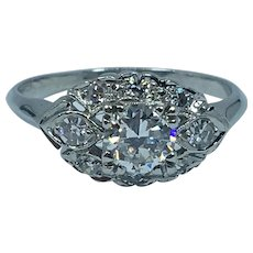 Pretty Art Deco Platinum Engagement Ring