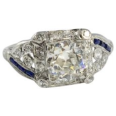 Gorgeous Art Deco Platinum Filigree Ring