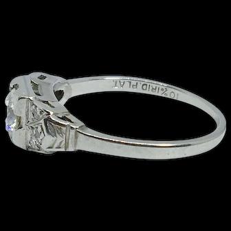 Classic Art Deco Platinum Ring