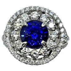 Amazing Sapphire and Diamond Ring