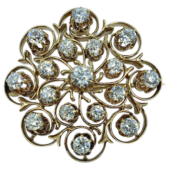 Victorian Diamond Pin/Pendant