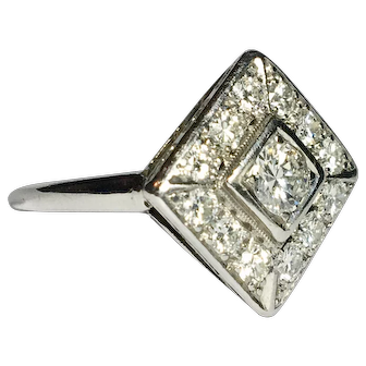 Mid Century Classic Engagement Ring