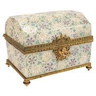 Stunning Baccarat Art Glass footed casket