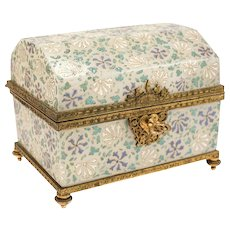 Stunning Baccarat Art Glass footed casket