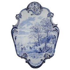 Large 19th Century Delft Faience Earthenware Plaque, Signed B.C. Koekkoek