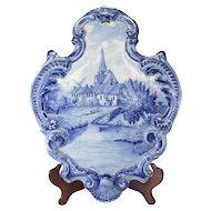 Large 18th century Delft Faience Earthenware Plaque
