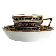 Cup and saucer from the Imperial Porcelain Factory in Vienna 1799