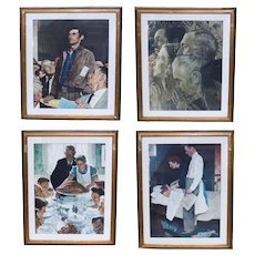 Norman Rockwell (American 20th C) Photo Lithograph Four Freedoms Series