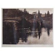 Edward S Curtis American 1868-1952 Photogravure Klickitat River Photograph