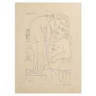Pablo Picasso Spanish 1881-1973 Etching au Repos Marie Terse Signed Ltd Ed