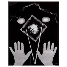 Man Ray (American, 1890–1976) Silkscreen on plexi Hands (after Rayograph) 1966