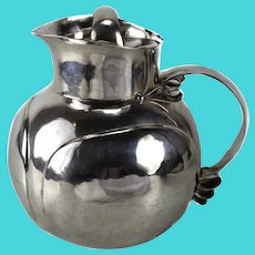 William Spratling Sterling Silver Covered Pitcher globe form berry joins c1940