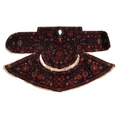 Antique Qashqai Kashkai Wool Saddle Bag, circa 1900. Extraordinary & Rare Signed