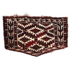 Antique Turkemen Bag Cover, 19th Century. Pentagonal Shaped