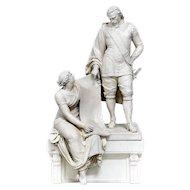 Carl John Dyfverman 1844-1892 Porcelain Bisque Statue of Count Oxenstierna
