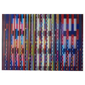 Yaacov Agam (Israeli 1928-) Agamograph Lithographic Lenticular Signed Numbered