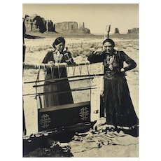 Josef Muench (American 1904-1998) B/W Photograph Women of the Desert