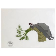 Disney Jungle Book Animation Cell Baloo scratching back Bare Neccessities 1967