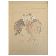 Jacques Villon (1875-1963) Lithograph, Vautours (Vultures)