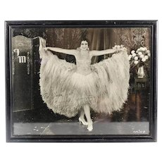 Original Fay Marbe Photograph, Signed & Personalized in Wood Frame c1920