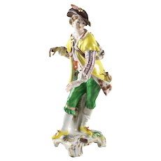 KPM Royal Berlin Porcelain Figurine 19th century Gentleman w/ pipe and rucksack