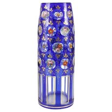 Bohemian Art Glass Vase 19th Century