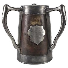 Golf Memorabilia St. Louis Field Club 1908 Three Handled Stein Trophy c1908