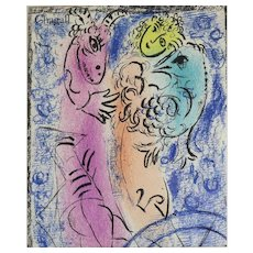 "Marc Chagall (Russian/French 1887-1985) Original Color Lithograph ""The Trap"""