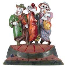 Aperkina, Katya (Russian 1959-) Ceramic Polychrome Judaica Menorah / Hanukiah