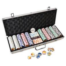 Vintage Ltd Ed Simpsons Professional 500 pc Clay Poker Chip Set TCFFC 2005