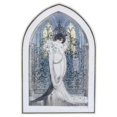 "Louis Icart French 1888 - 1950 Colored Etching Tosca""1928 Signed"
