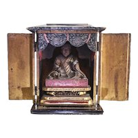 Japanese Zushi of Nichiren Altar / Shrine 18-19th century