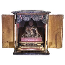 Japanese Zushi of Nichiren Altar / Shrine 18-19th century