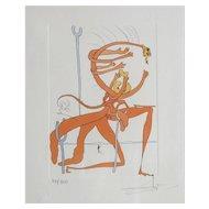 "Dali Salvador (Spanish, 1904-1989) Colored Lithograph ""Suenos"" Signed. 100/300"